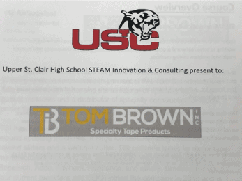 Upper Saint Clair STEAM Program partners with Tom Brown, Inc.