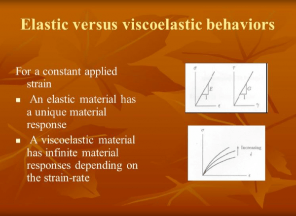 Elastic vs Viscoelastic Behaviors | TBI