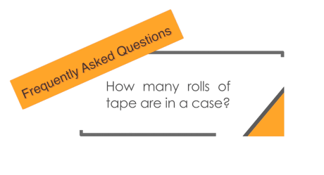 How many rolls of tape are in a case