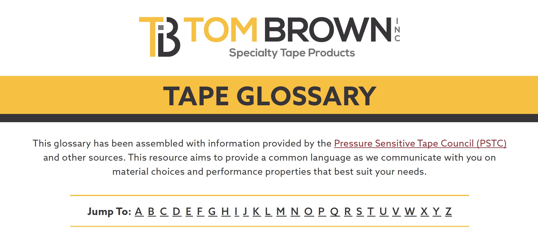 Tape Glossary